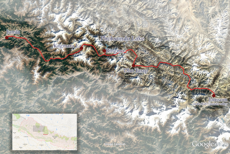 Dolpo-–-Map-of-the-Trek